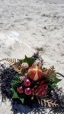 Christmas ornaments and decorations at the beach Stock Photography
