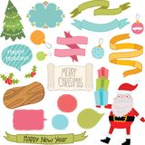 Christmas ornaments and decorative elements set. Stock Photography
