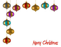 Christmas ornaments frame. Christmas ornaments on white background. FIND MORE christmas ornaments in my portfolio Royalty Free Stock Photo