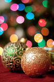 Christmas ornaments and gifts Royalty Free Stock Images