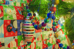 Christmas ornaments with gifts Stock Photography