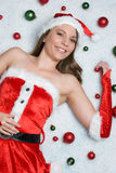 Christmas Ornaments Girl Stock Photo