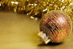 Christmas Ornaments with Glitter Background Stock Image