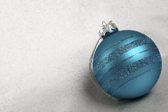 Christmas Ornaments with Glitter Background Royalty Free Stock Image