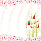 Christmas ornaments greeting card Royalty Free Stock Images
