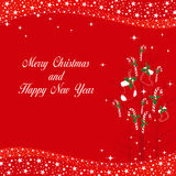 Christmas ornaments greeting card Stock Images