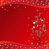 Christmas ornaments greeting card Royalty Free Stock Image