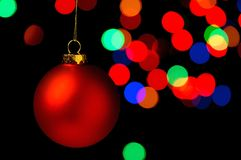 Christmas ornaments hanging Royalty Free Stock Images