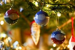 Christmas tree close up stock image