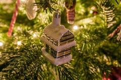 Christmas ornaments hanging on Christmas Tree Royalty Free Stock Photography