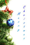 Christmas ornaments hanging from christmas Stock Photo