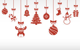 Christmas ornaments hanging Royalty Free Stock Photo