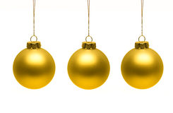 Christmas ornaments. Haning down isolatedon white background stock photography