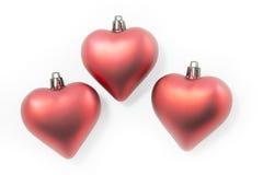 Christmas ornaments heart shaped b Royalty Free Stock Photo