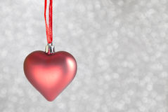 Christmas ornaments heart shaped Royalty Free Stock Image