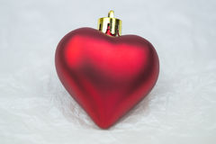 Christmas ornaments heart shaped Royalty Free Stock Images