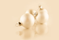 Christmas ornaments, high key effect Stock Images