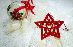 Christmas ornaments home decor icon Royalty Free Stock Image