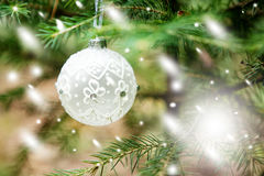 Christmas Ornaments including toys on Christmas tree Stock Photography