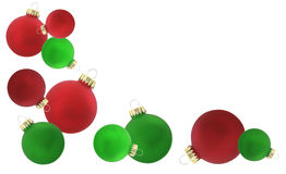 Christmas ornaments isolated Stock Photos