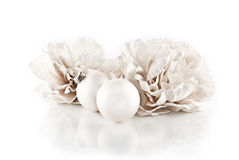 Christmas ornaments isolated, high key effect. Christmas ornaments isolated on white, high key effect Stock Image