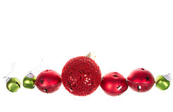 Christmas ornaments isolated on white Royalty Free Stock Photo