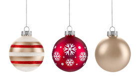 Christmas Ornaments. Isolated on a white background royalty free stock photos