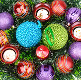 Christmas ornaments and items Royalty Free Stock Images