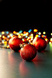Christmas ornaments and lights Stock Photo