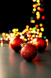 Christmas ornaments and lights Stock Photography