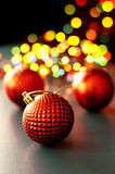 Christmas ornaments and lights Royalty Free Stock Photography