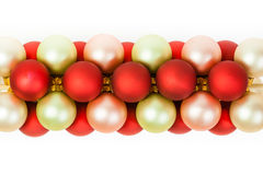 Christmas Ornaments Linked Stock Photo