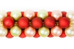 Christmas Ornaments Linked Stock Photo