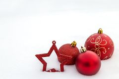 An image with Christmas decoration. Royalty Free Stock Photo