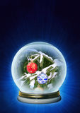 Christmas ornaments in magic crystal Royalty Free Stock Images