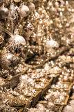 Christmas ornaments in the market Royalty Free Stock Photos