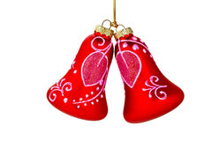 Christmas Ornaments On White Stock Image