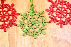 Christmas ornaments. And orange and cinnamon and cone Royalty Free Stock Image