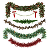Christmas ornaments, patterns, garlands, toys set Royalty Free Stock Photos