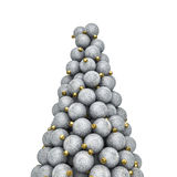 Christmas ornaments peak silver Royalty Free Stock Images