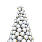 Christmas ornaments peak white Royalty Free Stock Photo