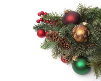 Christmas ornaments on pine needles. Assorted Christmas ornaments on pine needles Stock Images