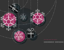 Christmas ornaments, Pink Balls Royalty Free Stock Images