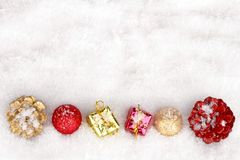 Christmas ornaments and presents Royalty Free Stock Photography