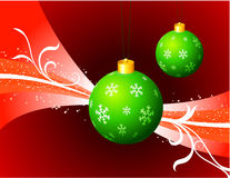 Christmas Ornaments on Red Holiday Background Royalty Free Stock Photography