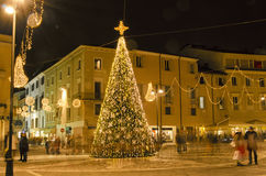 Christmas ornaments in Rimini Royalty Free Stock Images