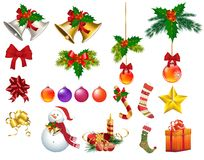 Christmas ornaments s. Christmas ornaments isolated desing s Stock Images