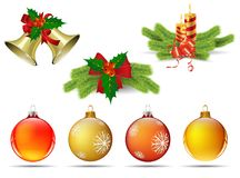 Christmas ornaments s. Christmas ornaments isolated s, For Christmas tree decorations Stock Image