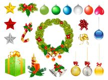 Christmas ornaments s. Et isolated s Royalty Free Stock Image