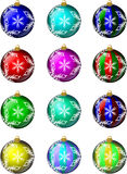 Christmas Ornaments Set #1 royalty free stock photos